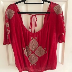 New red free people summer top